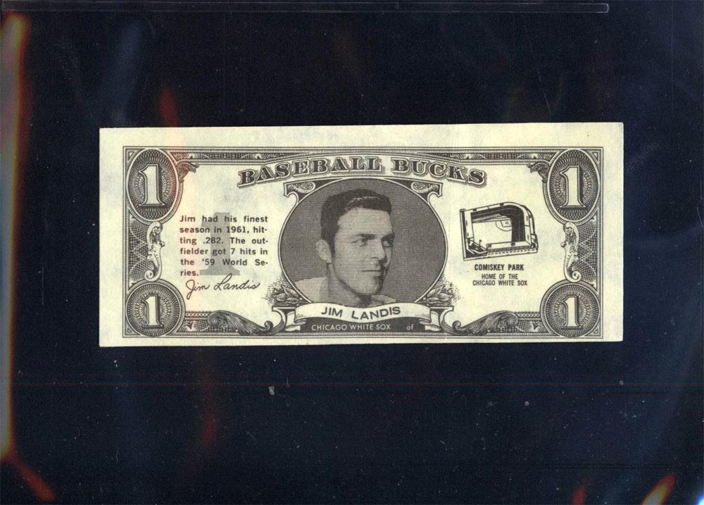 1962 Topps Bucks #47 Jim Landis