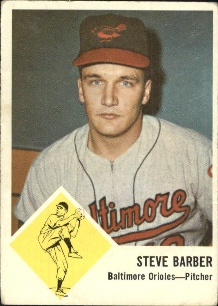 1963 Fleer #1 Steve Barber