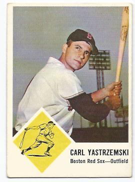 1963 Fleer #8 Carl Yastrzemski