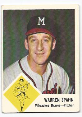 1963 Fleer #45 Warren Spahn