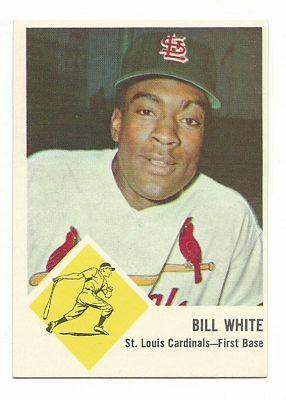 1963 Fleer #63 Bill White