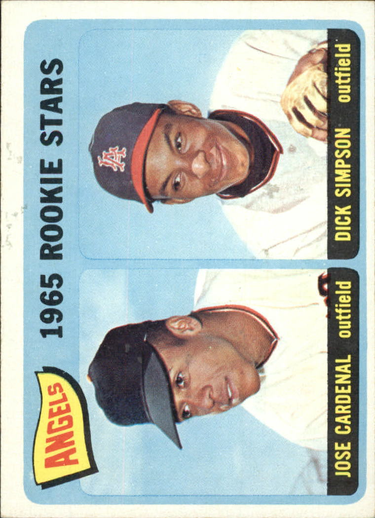 1965 Topps #374 Rookie Stars/Jose Cardenal RC/Dick Simpson