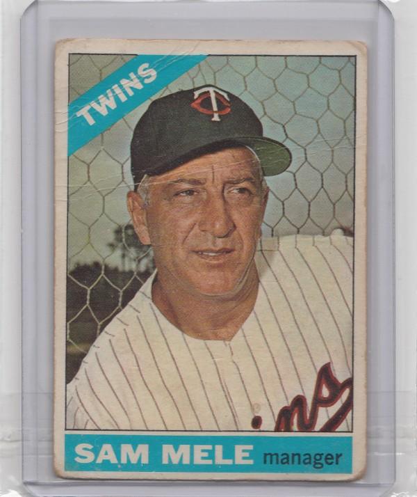 1966 Topps #3 Sam Mele MG