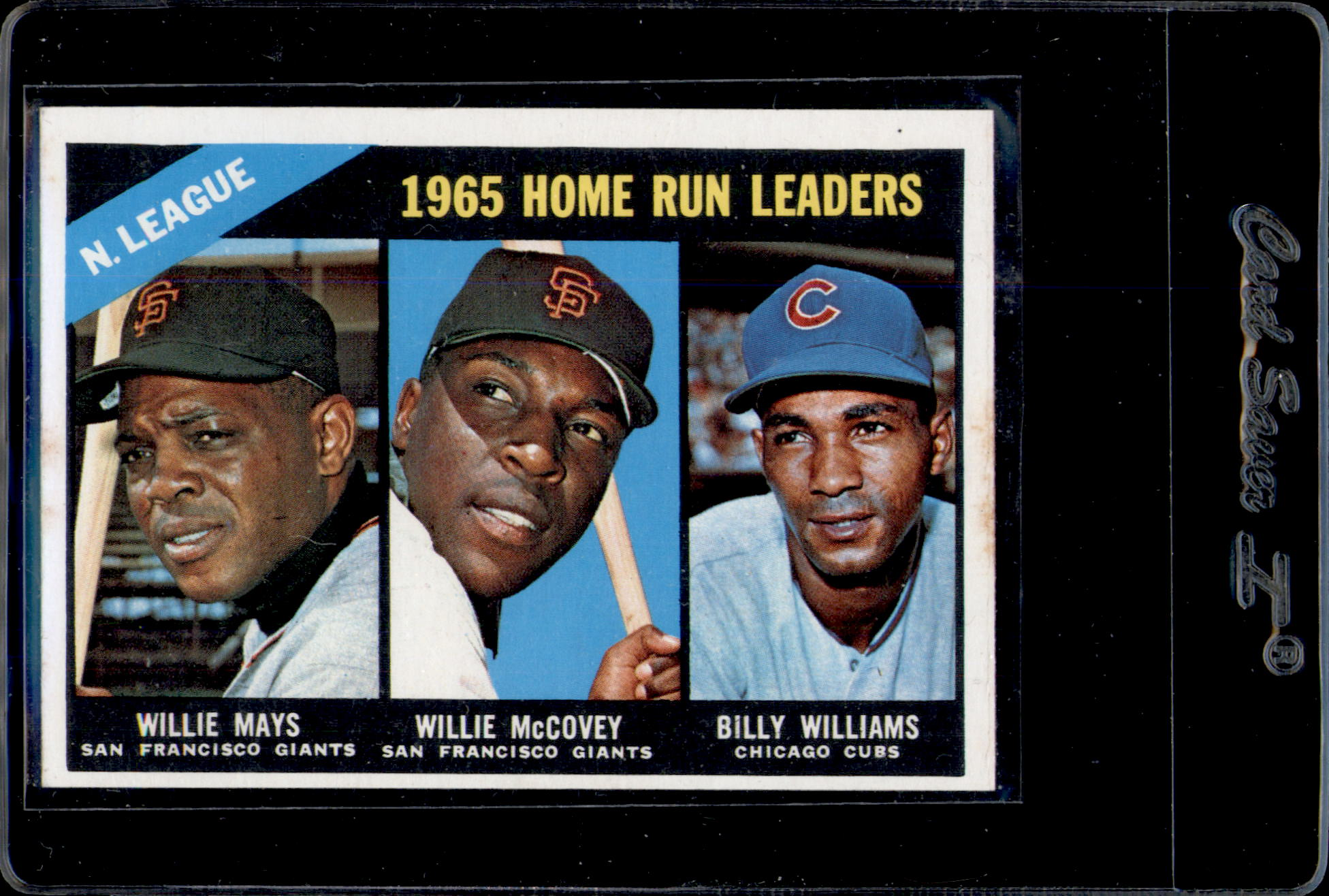 1966 Topps #217 NL Home Run Leaders/Willie Mays/Willie McCovey/Billy Williams
