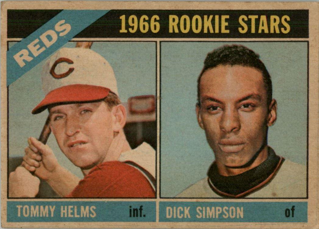 1966 Topps Venezuelan #311 Tommy Helms/Dick Simpson