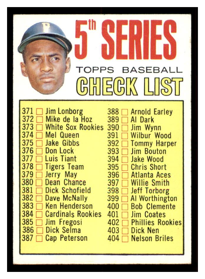 1967 Topps #361 Roberto Clemente CL5
