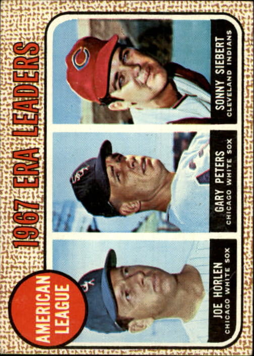 1968 Topps #8 AL ERA Leaders/Joel Horlen/Gary Peters/Sonny Siebert
