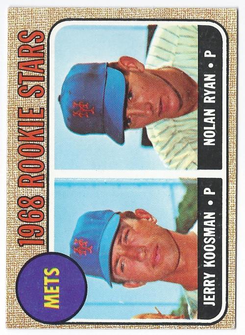 1968 Topps #177 Rookie Stars/Jerry Koosman RC/Nolan Ryan RC/UER Sensational/is spelled incorrectly