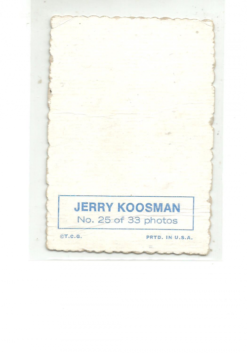 1969 Topps Deckle Edge #25 Jerry Koosman back image