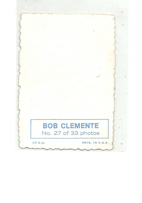 1969 Topps Deckle Edge #27 Roberto Clemente back image
