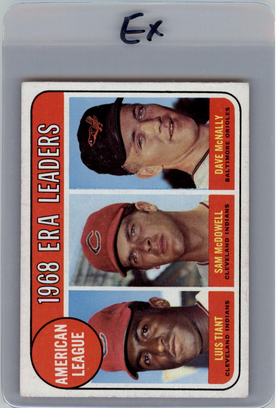 1969 Topps #7 AL ERA Leaders/Luis Tiant/Sam McDowell/Dave McNally
