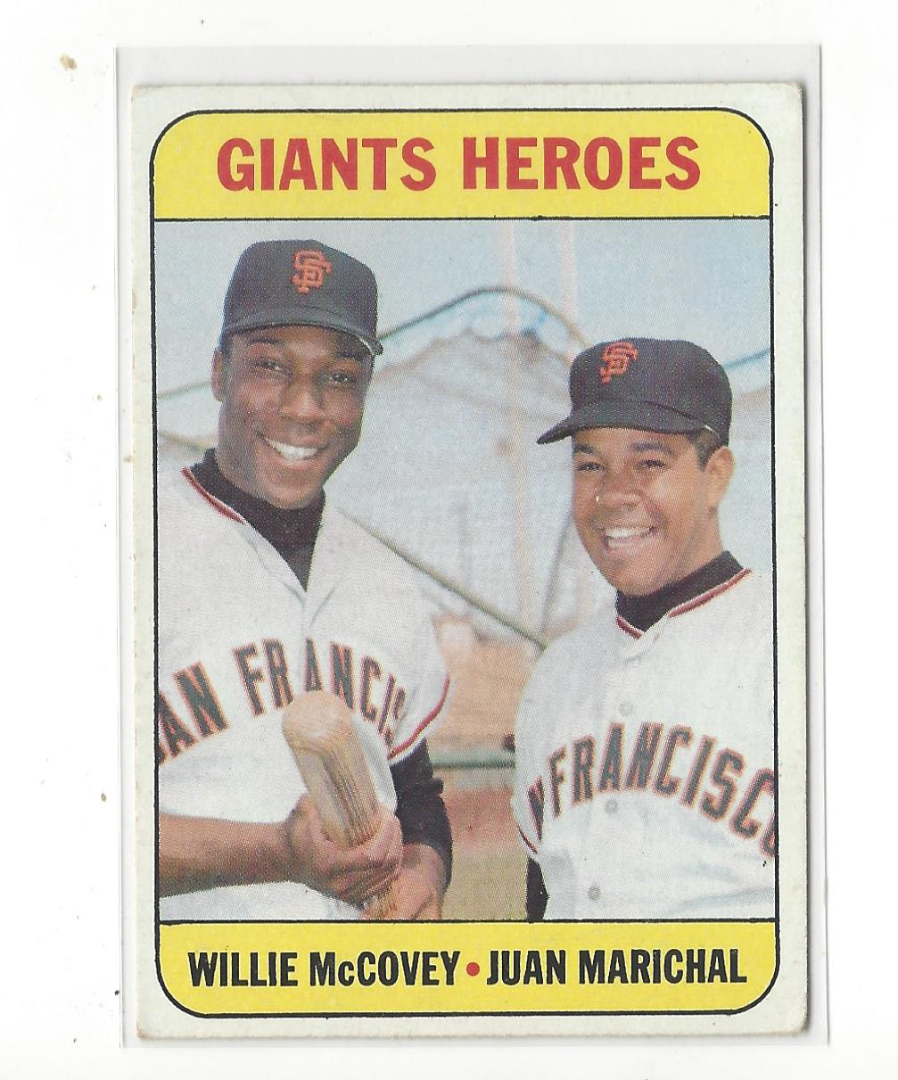 1969 Topps #572 Giants Heroes/Willie McCovey/Juan Marichal