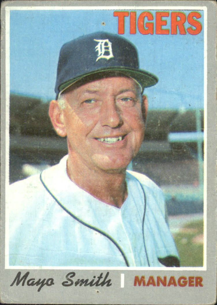 Details About 1970 Topps Baseball Card 313 Mayo Smith Mg Fair