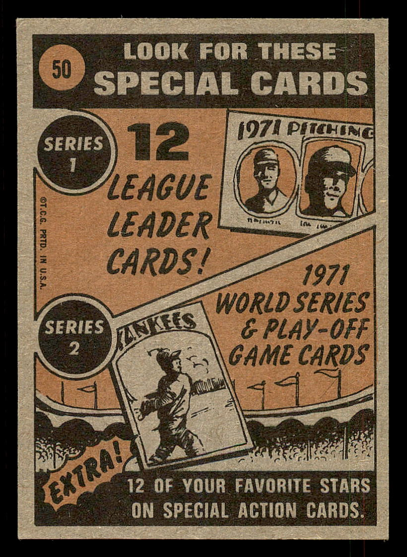 1972 Topps #50 Willie Mays IA back image