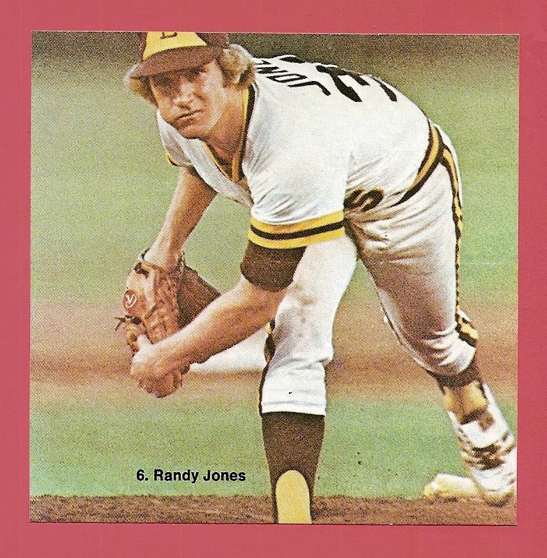 1976 Sportstix #6 Randy Jones