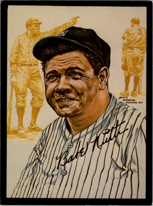 1979 Metallic Creations #17 Babe Ruth