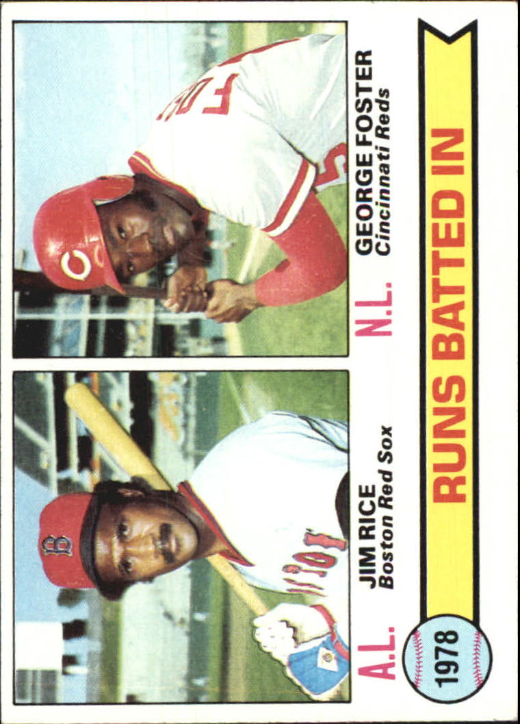1979 Topps #3 RBI Leaders/Jim Rice/George Foster