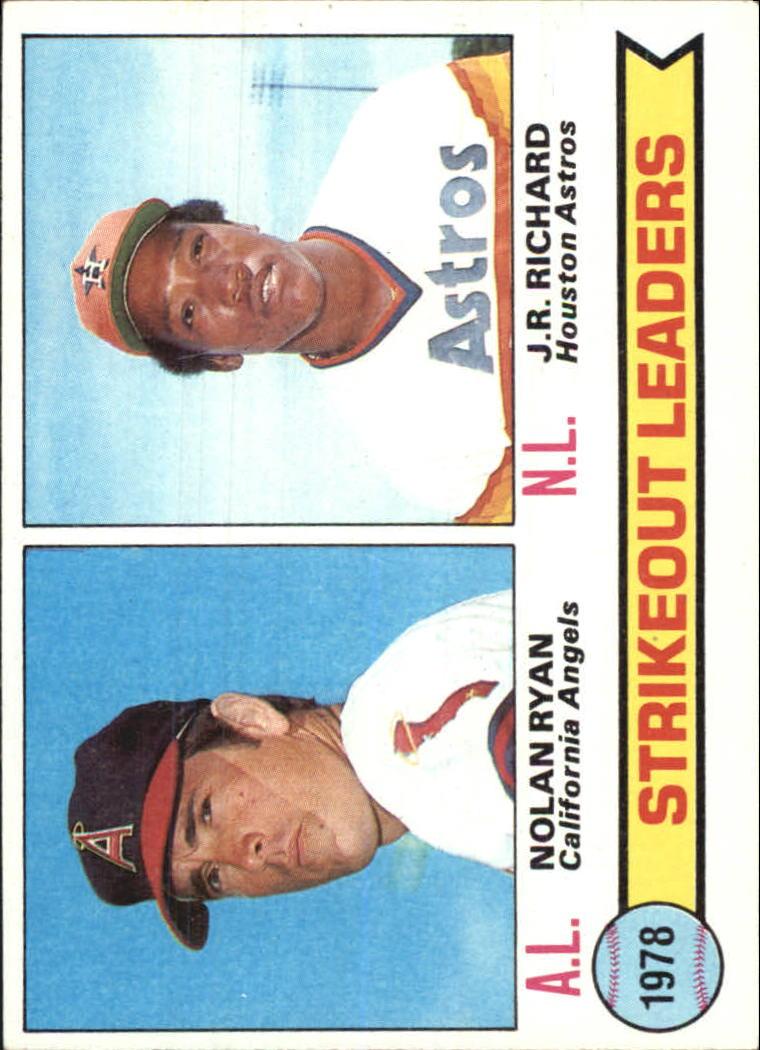 1979 Topps #6 Strikeout Leaders/Nolan Ryan/J.R. Richard