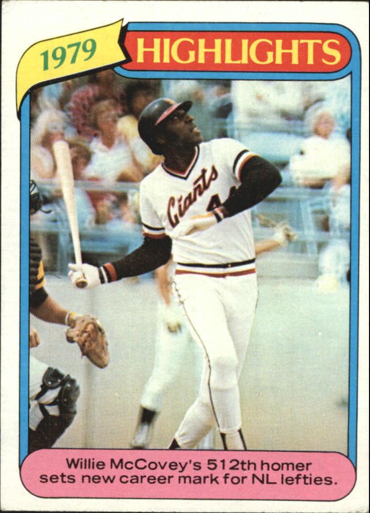 1980 Topps #2 Willie McCovey HL