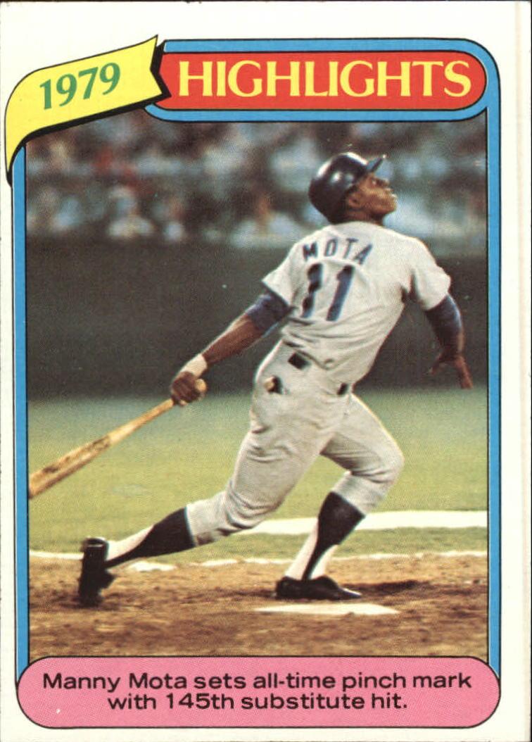 1980 Topps #3 Manny Mota HL