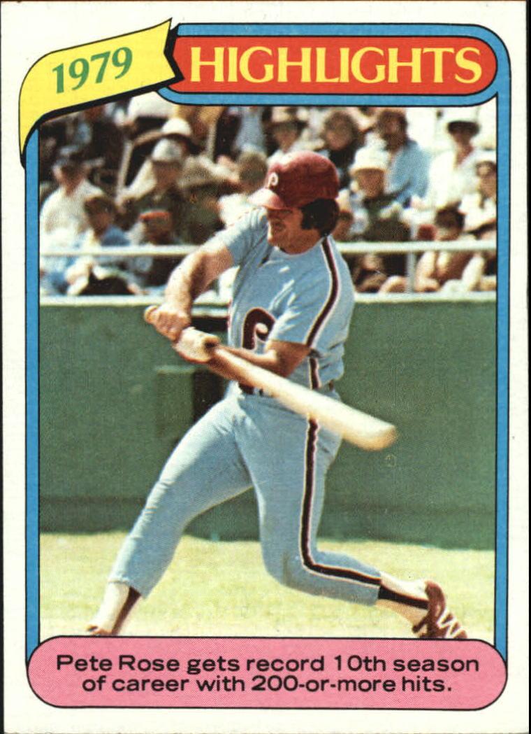 1980 Topps #4 Pete Rose HL