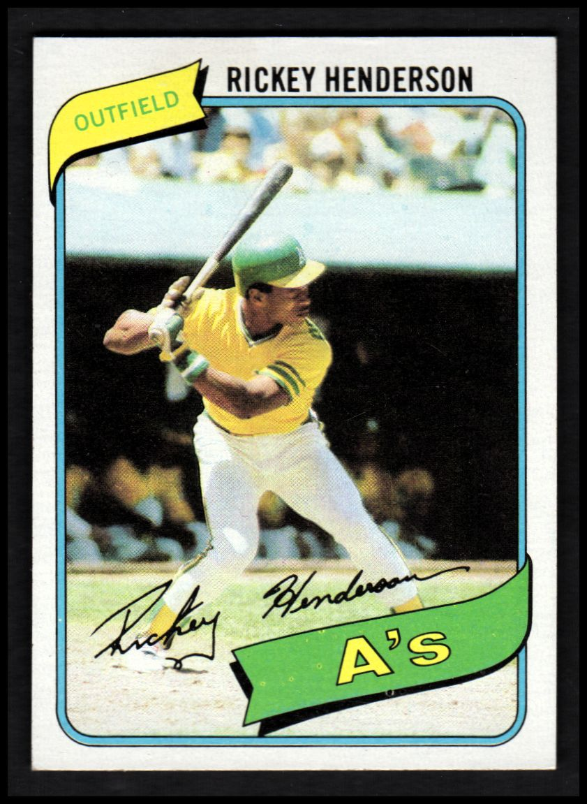 1980 Topps #482 Rickey Henderson RC/UER 7 steals at/Modesto should be Fresno