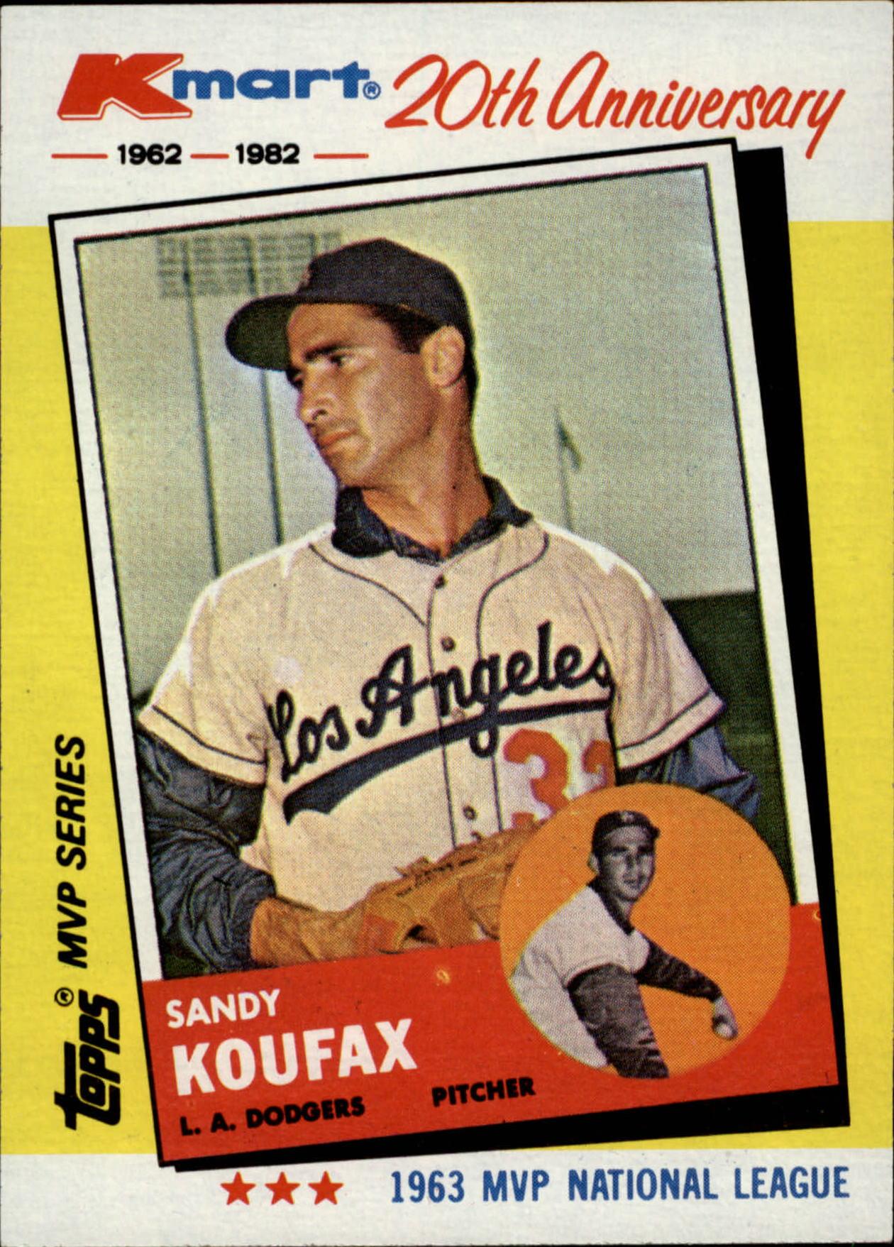 1982 K-Mart #4 Sandy Koufax: 63NL