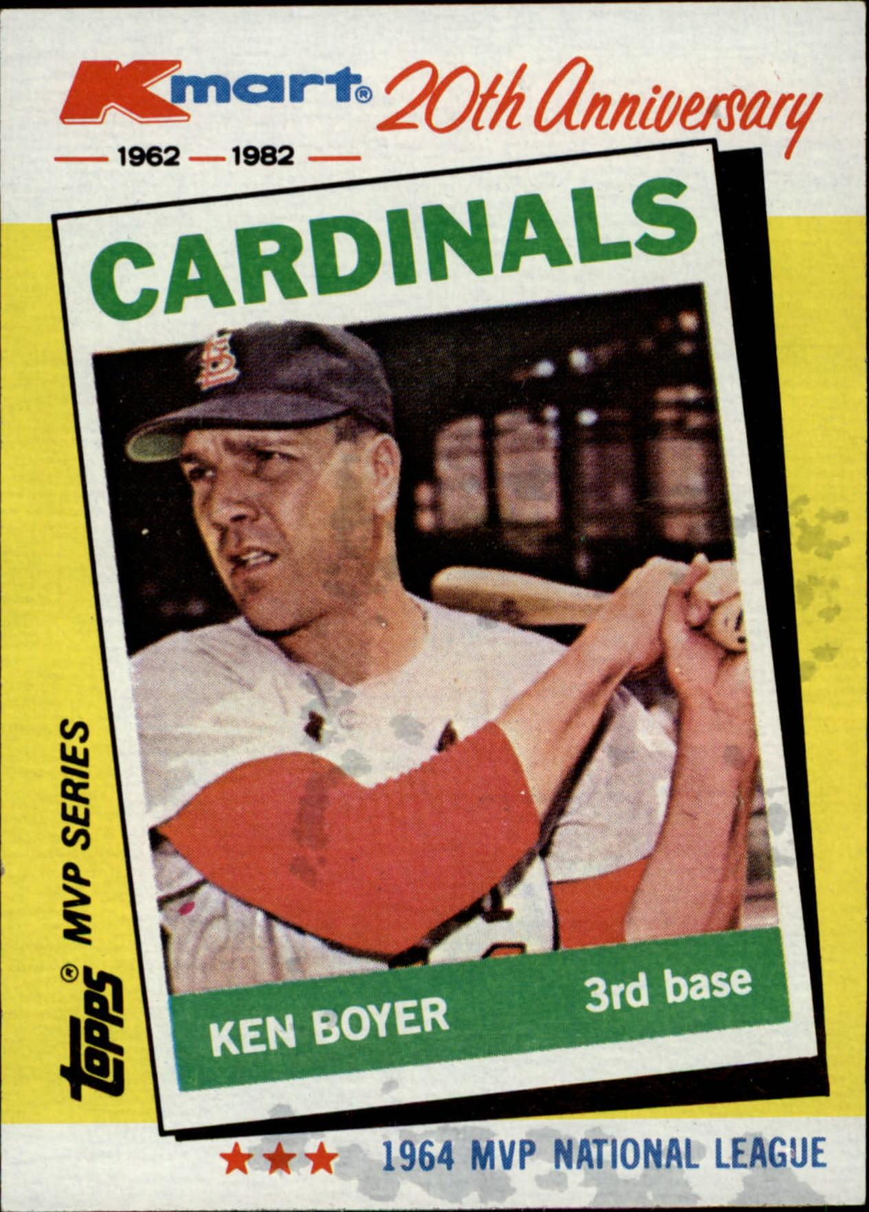 1982 K-Mart #6 Ken Boyer: 64NL