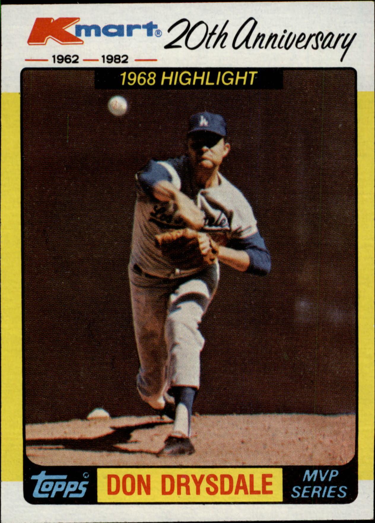 1982 K-Mart #42 Don Drysdale '68 HL/(Scoreless innings)