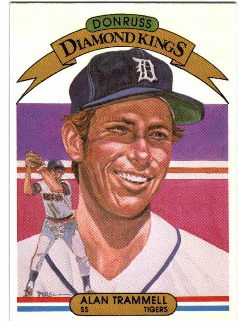 1982 Donruss #5 Alan Trammell DK/COR