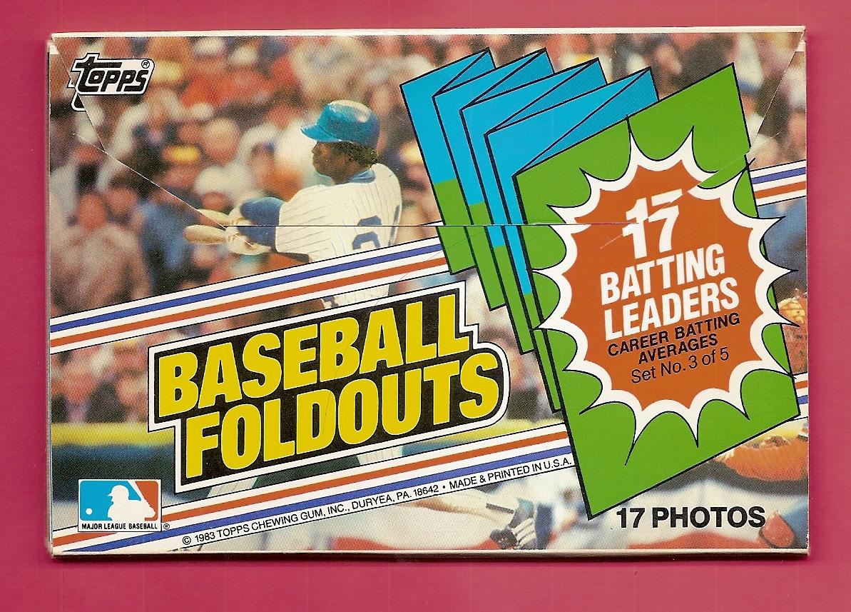 1983 Topps Foldouts #3 Batting Leaders/Rod Carew .331/George Brett/Bi
