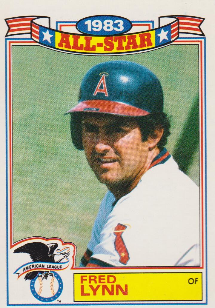 1984 Topps Glossy All-Stars #7 Fred Lynn