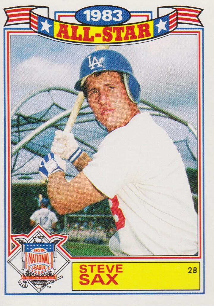 1984 Topps Glossy All-Stars #14 Steve Sax