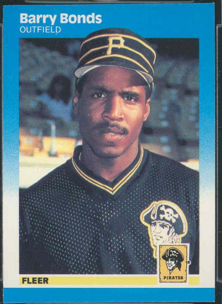 1987 Fleer #604 Barry Bonds RC