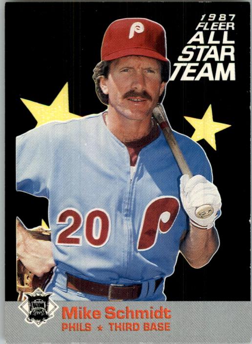 1987 Fleer All-Stars #6 Mike Schmidt