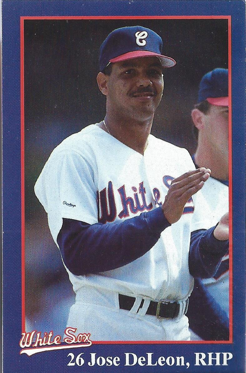 1987 White Sox Coke 7 Jose Deleon Nm Mt