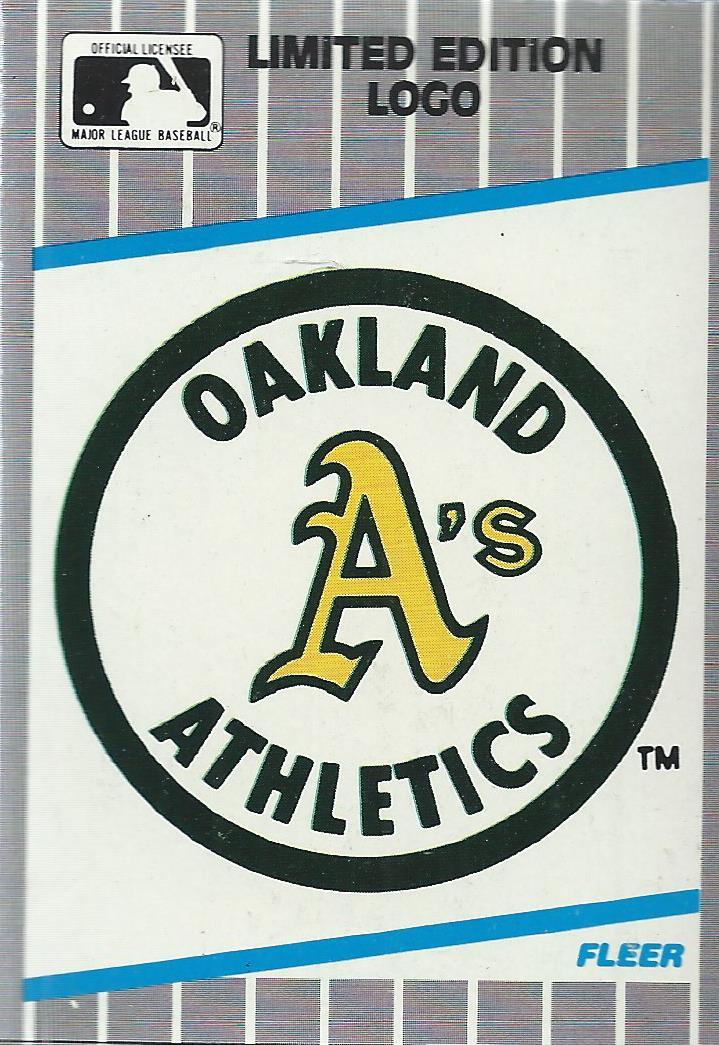 1989 Fleer Wax Box Cards #C5 A's Logo