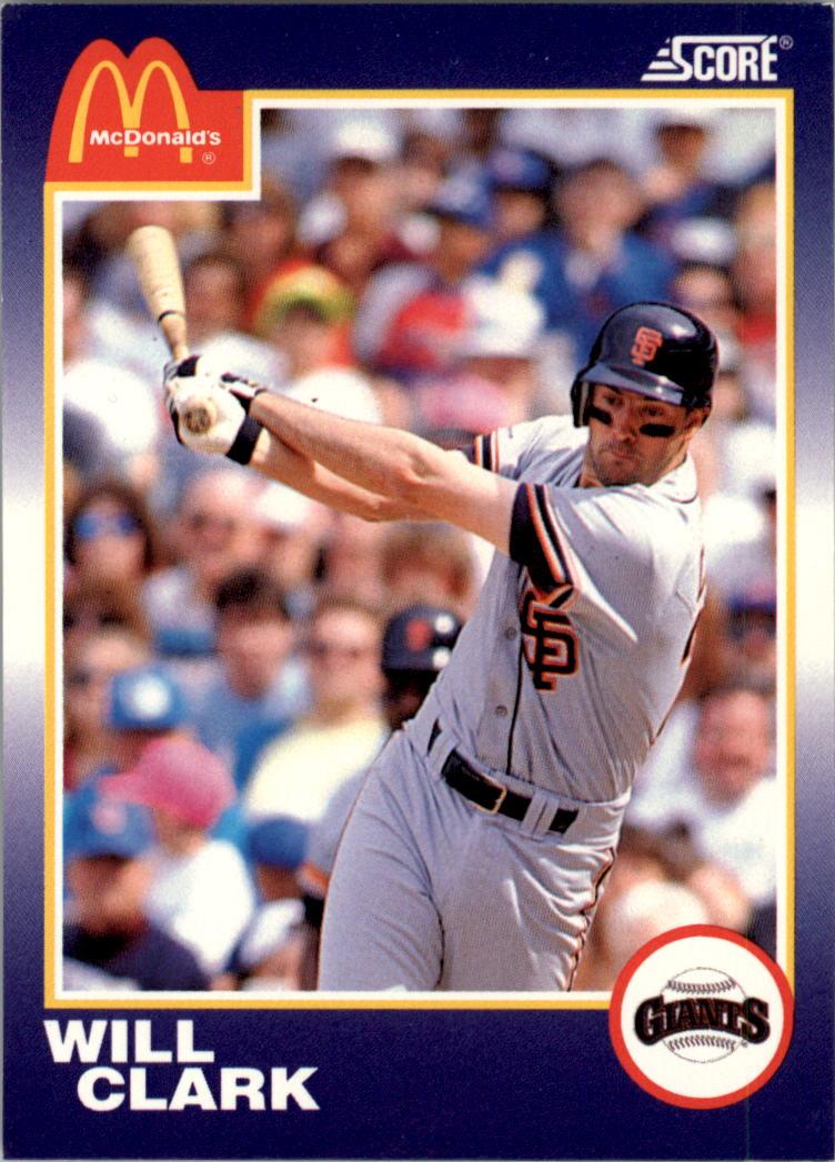 1990 Score McDonald's #1 Will Clark