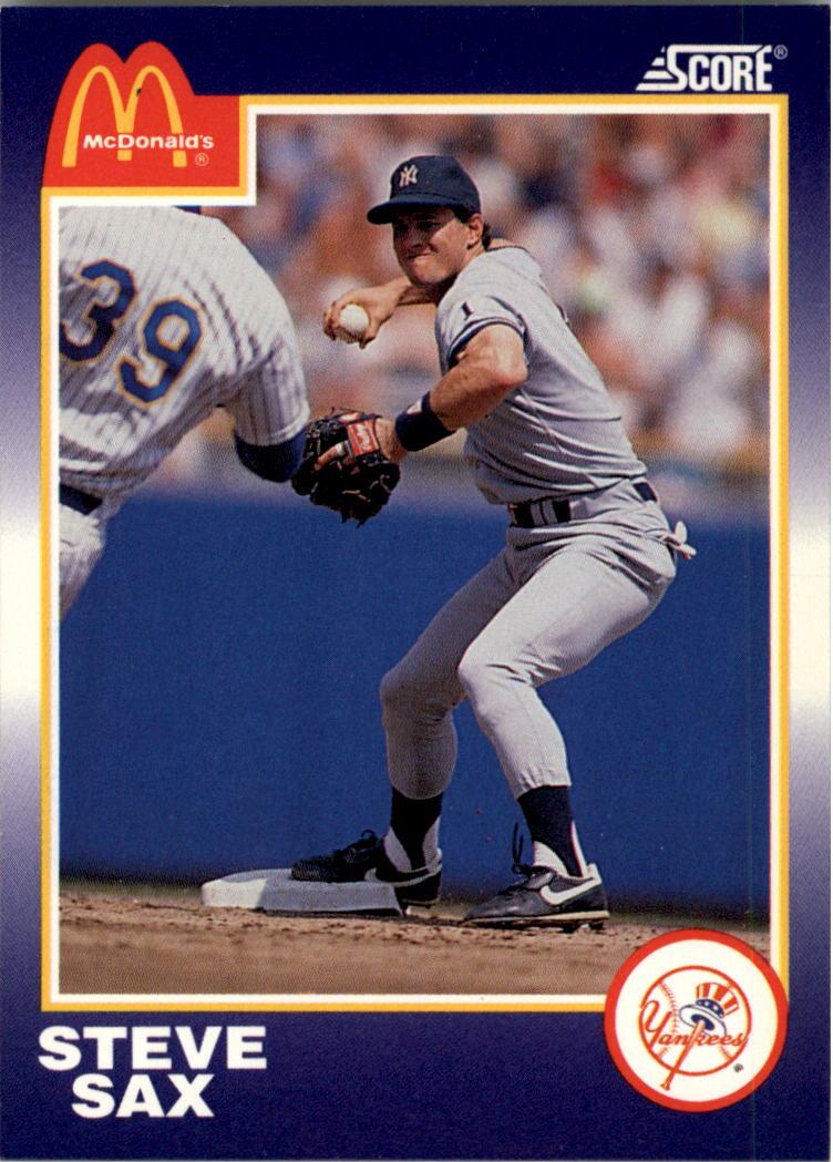 1990 Score McDonald's #22 Steve Sax