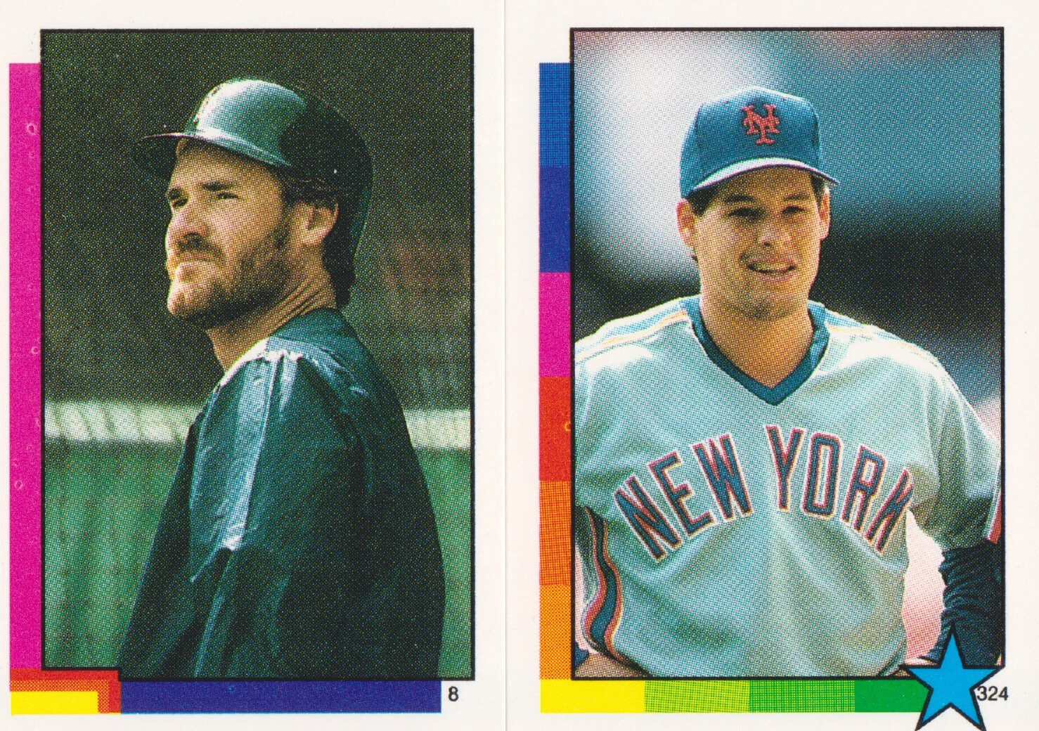 1990 Topps Stickers #8 Wade Boggs HL (324)