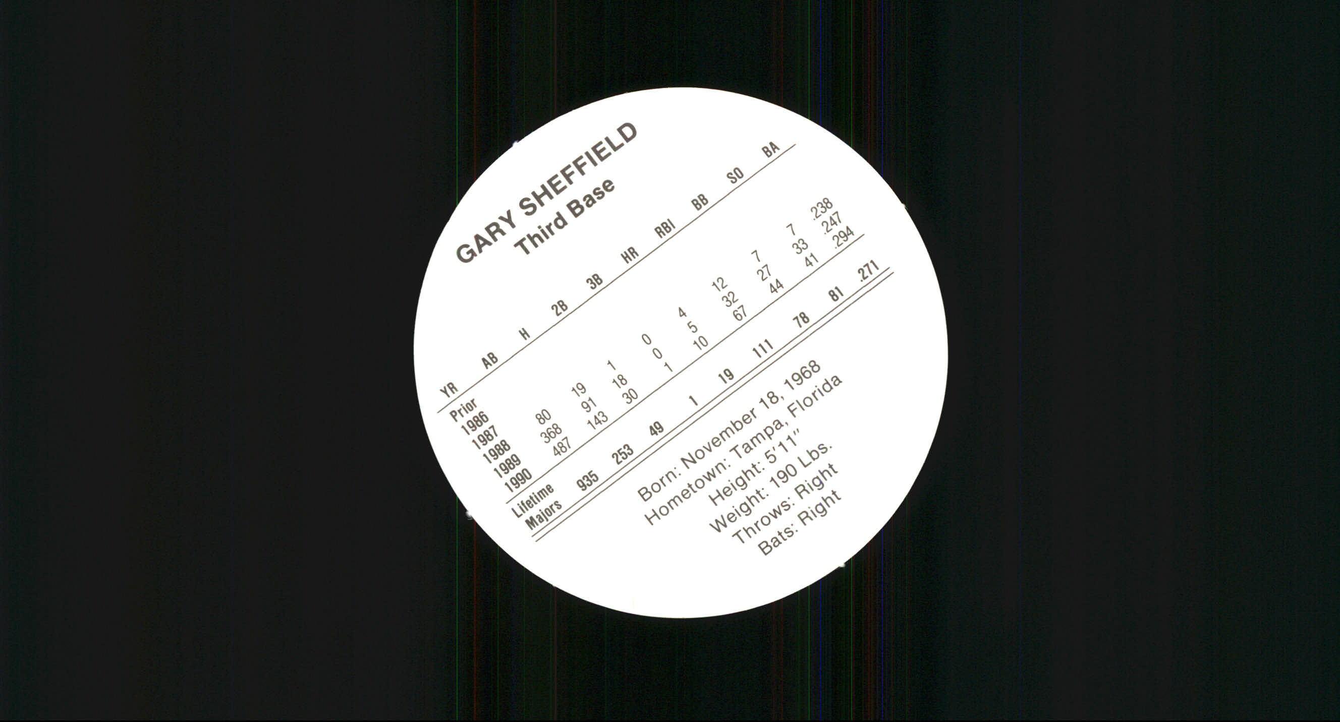 1991 Cadaco Ellis Discs #51 Gary Sheffield back image