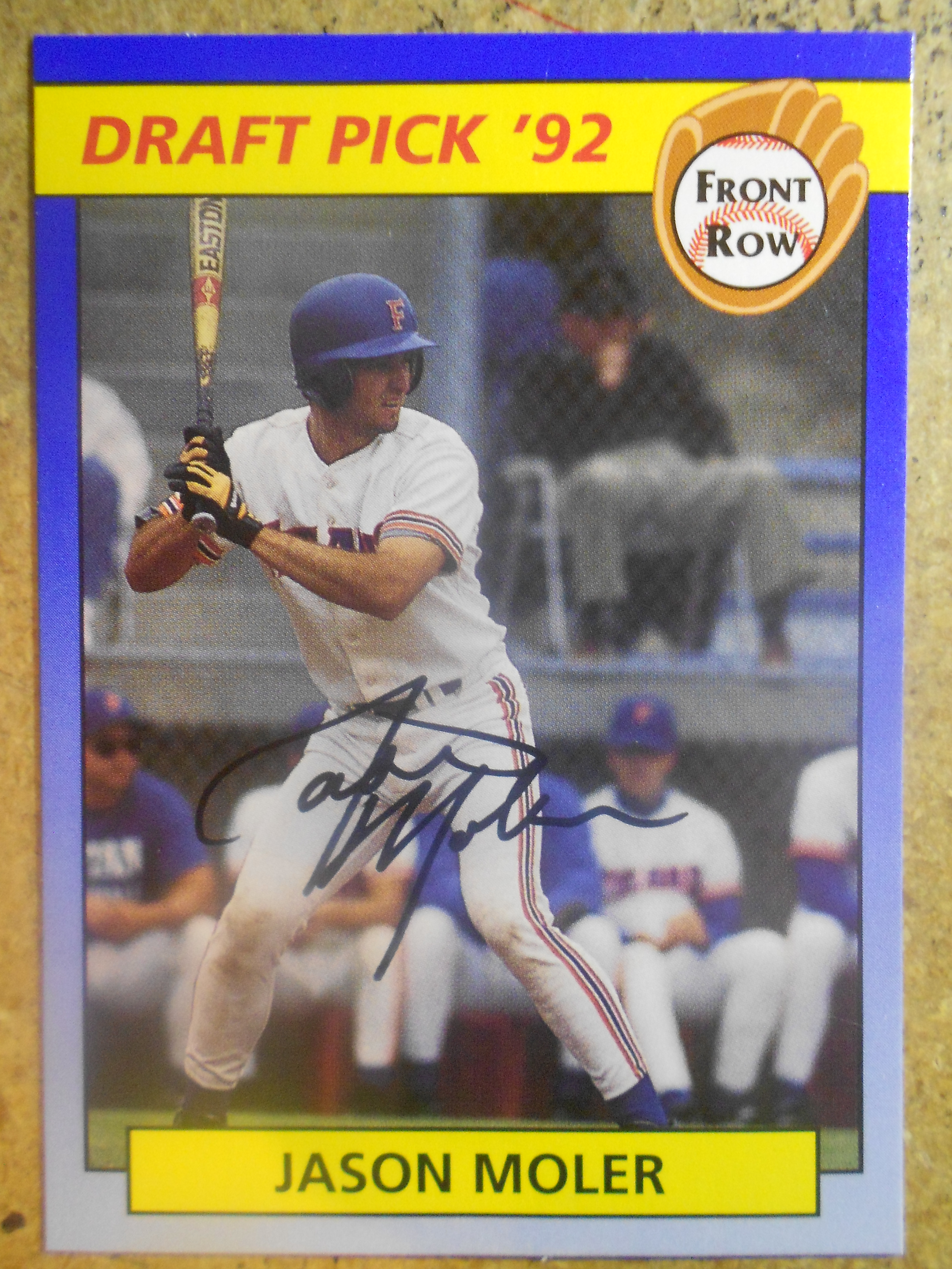 1992 Front Row Draft Picks Autographs #11 Jason Moler