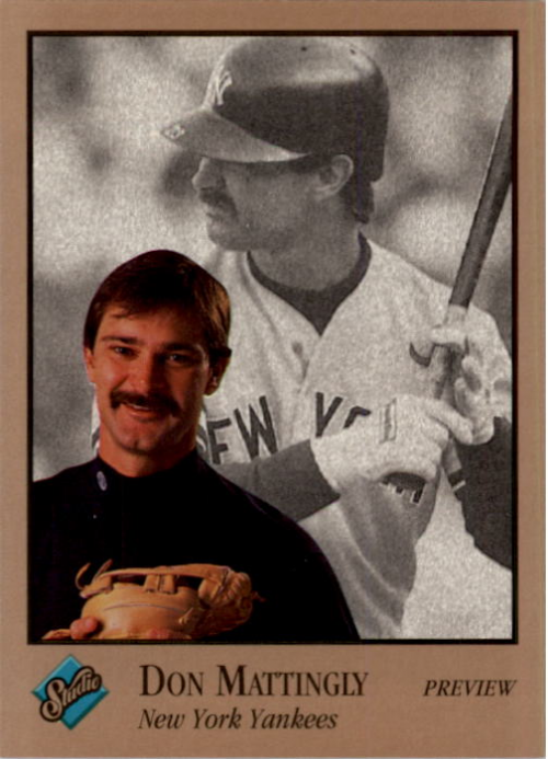 1992 Studio Previews #9 Don Mattingly