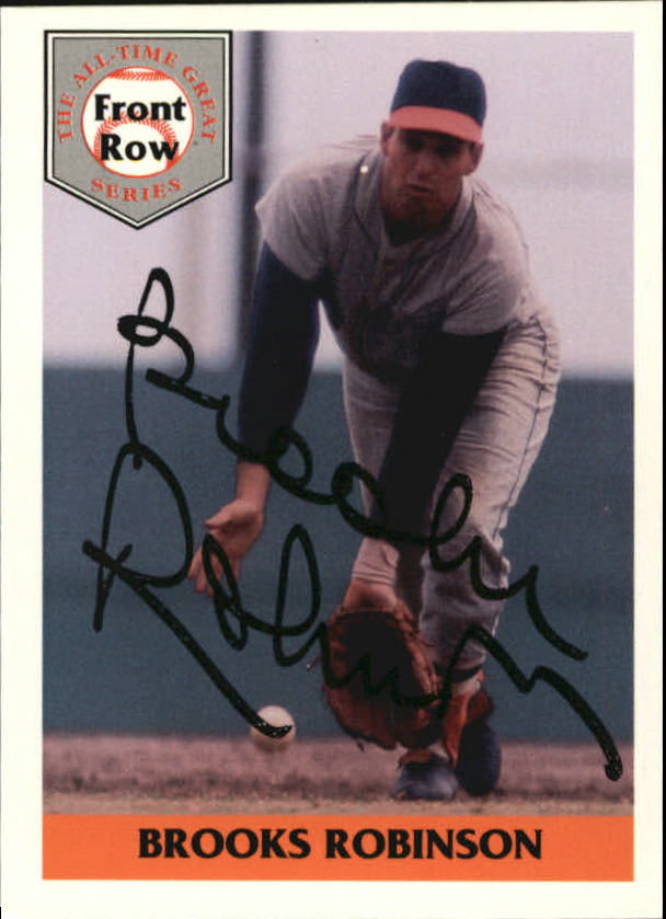 1992 Front Row Brooks Robinson #1AU Brooks Robinson/Autograph