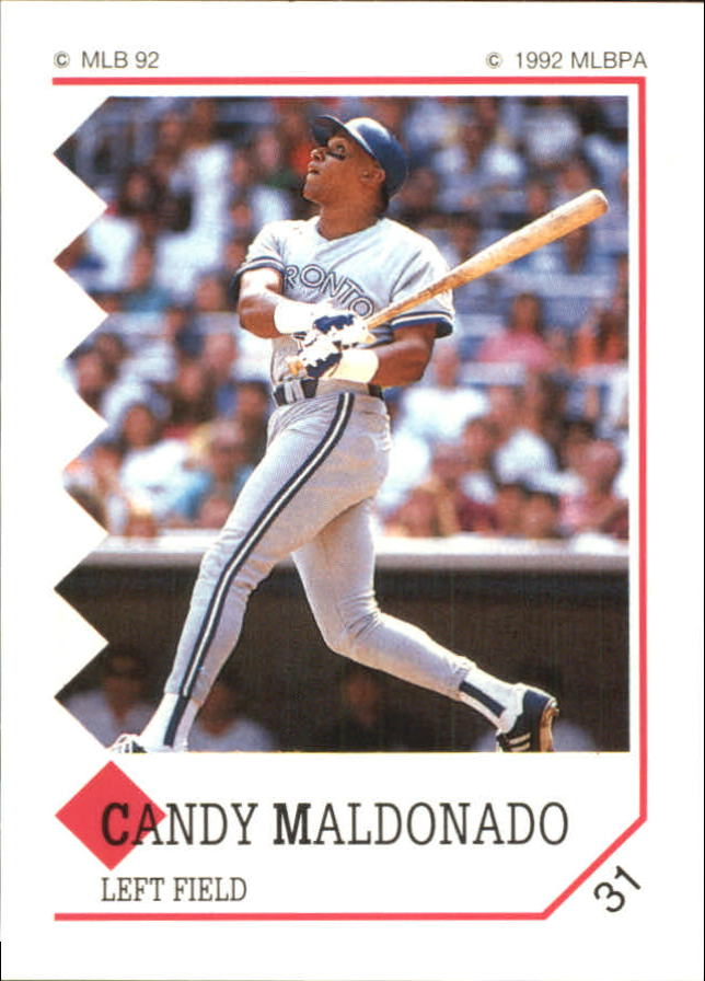 1992 Panini Stickers #31 Candy Maldonado