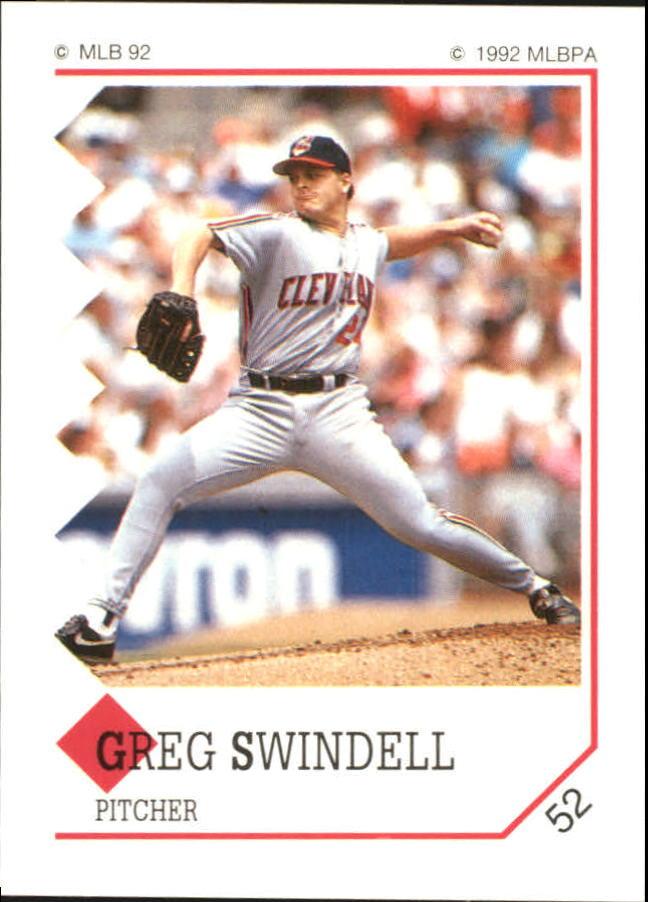 1992 Panini Stickers #52 Greg Swindell