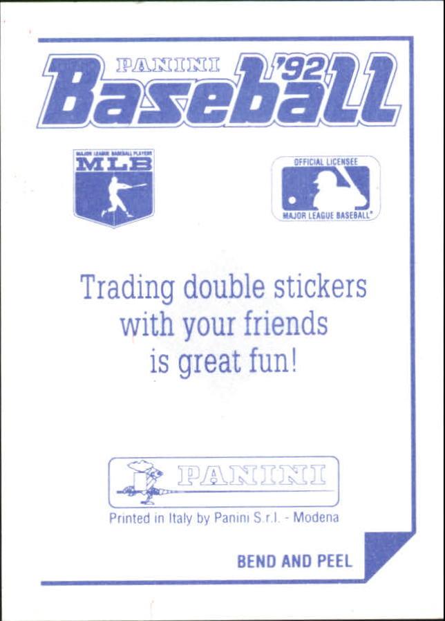1992 Panini Stickers #53 Indians Team Logo back image