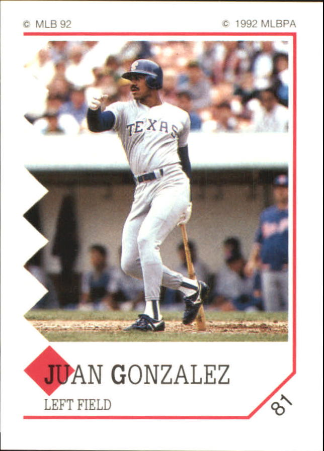 1992 Panini Stickers #81 Juan Gonzalez