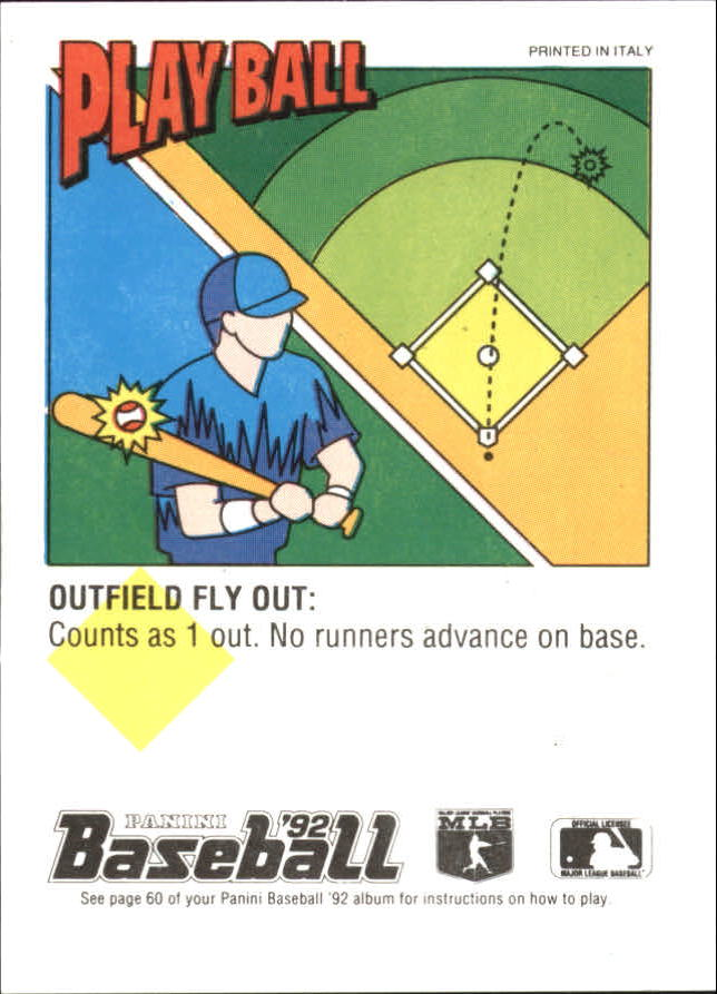 1992 Panini Stickers #105 Cecil Fielder back image