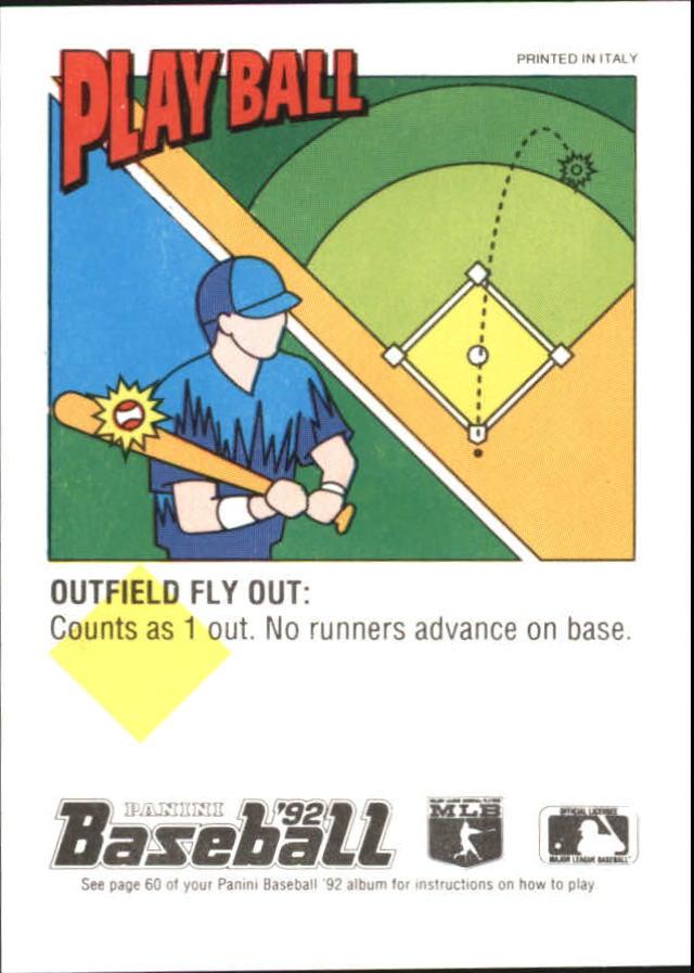 1992 Panini Stickers #107 Travis Fryman back image
